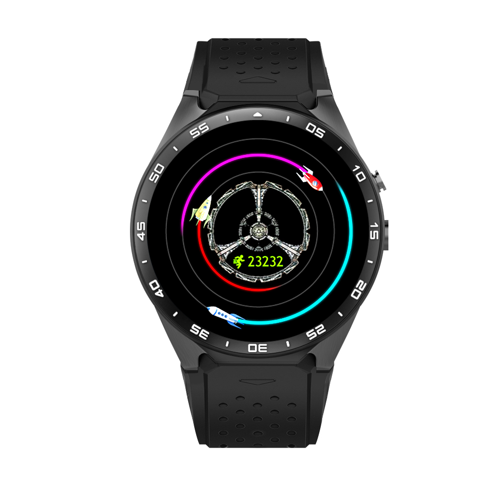 KW88 Bluetooth Smart İzle Android 5.1 Quad Core ROM 4 GB + RAM 512 MB Bluetooth SmartWatch GPS WIFI Için IOS Android