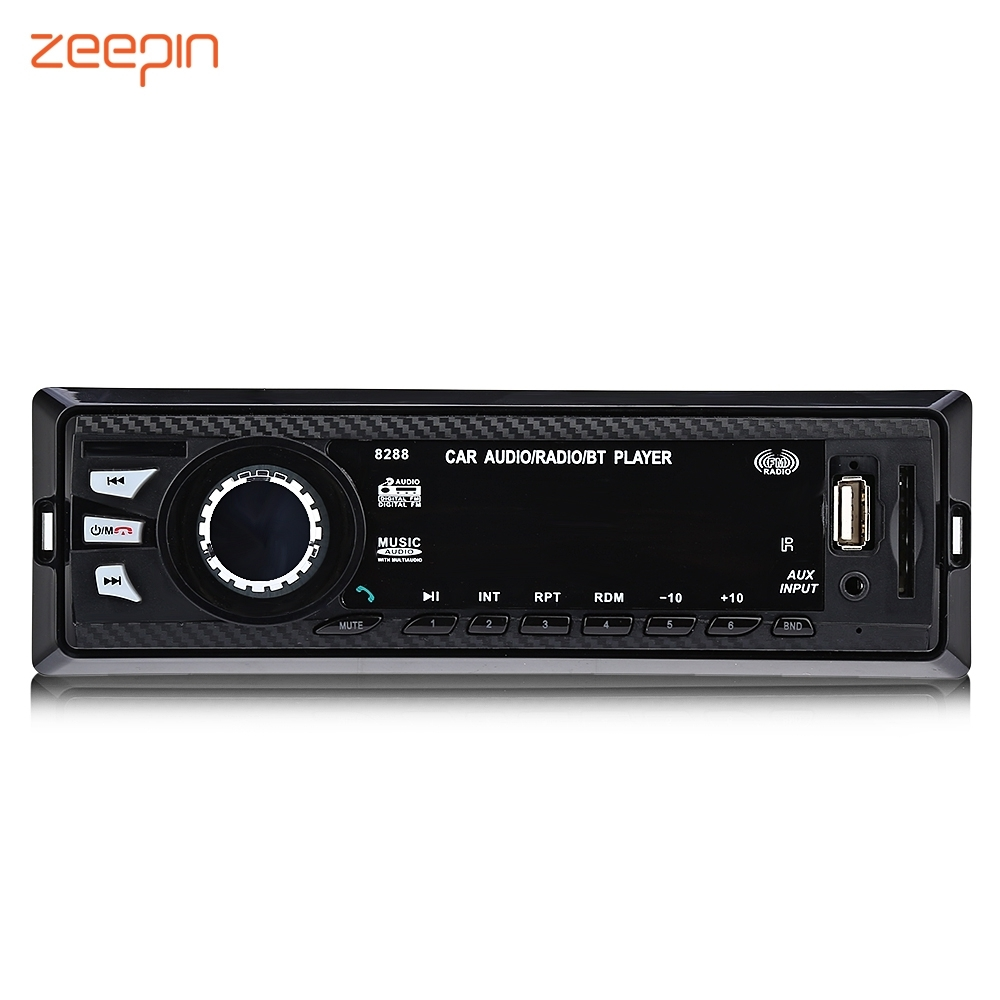 Zeepin8288 Car Radio 1 Din Stereo Audio MP3 Player In Dash Bluetooth 2.0 12V FM SD USB AUX Input FM Receiver Remote Control